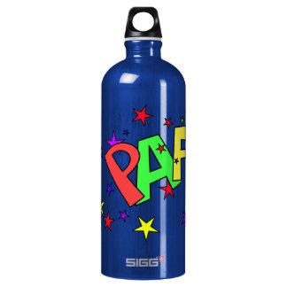 red-41991 CARTOON COMIC STARS PAF WORDS SHOUTOUTS SIGG Traveler 1.0L Water Bottle
