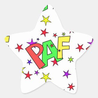 red-41991 CARTOON COMIC STARS PAF WORDS SHOUTOUTS Star Sticker
