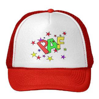 red-41991 CARTOON COMIC STARS PAF WORDS SHOUTOUTS Trucker Hat