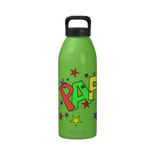 red-41991 CARTOON COMIC STARS PAF WORDS SHOUTOUTS Drinking Bottle