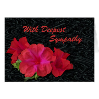 Red 4 O'clocks on blk moire-customize any occasion Greeting Card