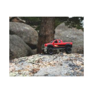 Red 4x4 Diecast Truck Canvas Print