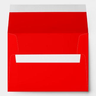 Red 5x7 Blank Envelopes