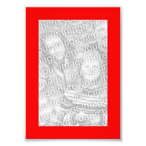 Red 5x7 Frame Photo Photographic Print