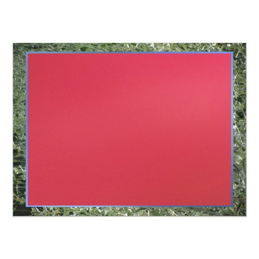 Red 6.5x8.75 Paper Invitation Card