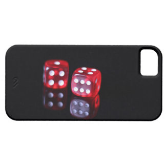 Red 6 sided poker dice iPhone 5 case