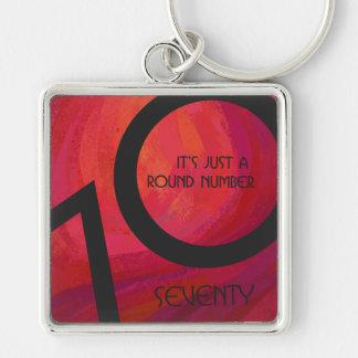 Red 70 Decade Birthday Keychain