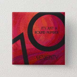 Red 70 Decade Birthday Pinback Button
