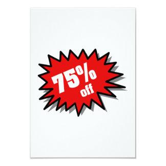 Red 75 Percent Off Invites