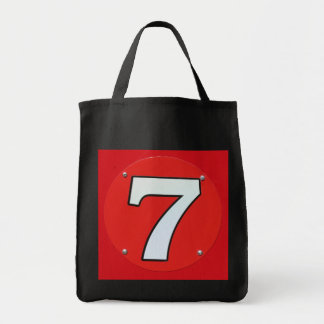 Red 7 tote bags