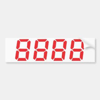 red 8888 icon bumper sticker