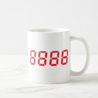 red 8888 icon coffee mug