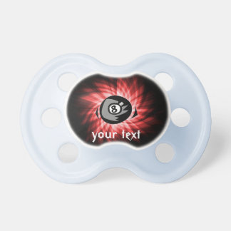 Red 8 ball pacifier