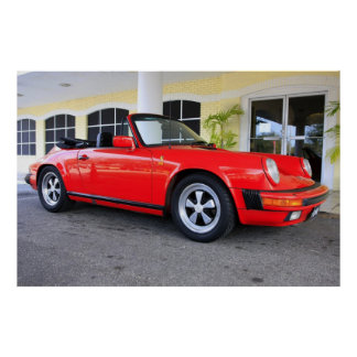 Red 911 Convertible Poster