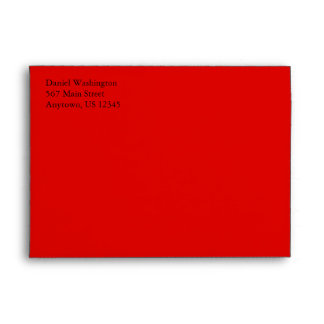 Red A7 5x7 Custom Pre-addressed Envelopes