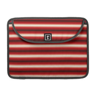 red a black line Pattern MacBook Pro Sleeve