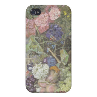 Red A Fruit Piece, Jan van Huysum flowers Cases For iPhone 4