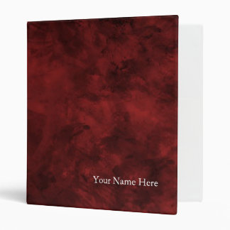 Red Abstract 3 Ring Binder