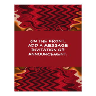 """red abstract 8.5"""" x 11"""" flyer"""