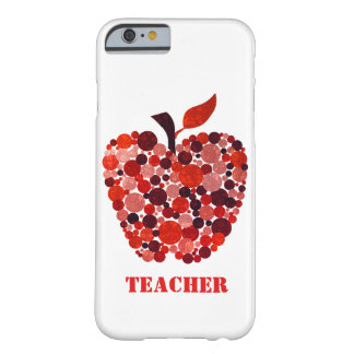Red Abstract Apple Teachers iPhone 6 Case