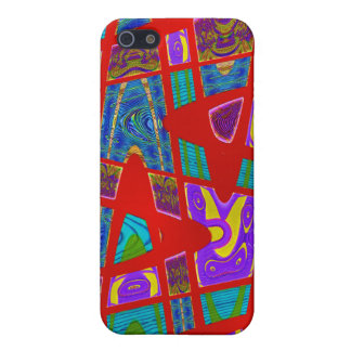 red abstract art cases for iPhone 5