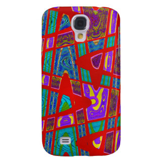 red abstract art galaxy s4 case