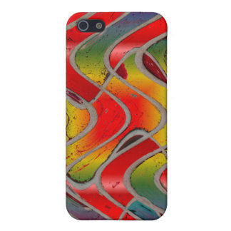 red abstract art iPhone 5 covers