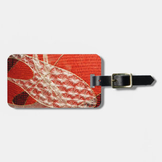 Red Abstract Art work - Tapestry detail Bag Tag