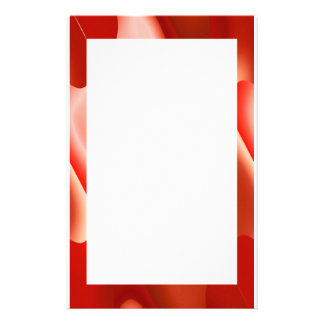 red abstract border customized stationery