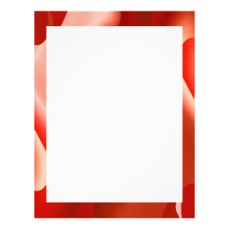 red abstract border letterhead