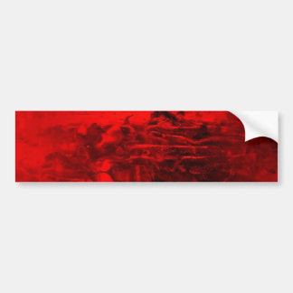 Red Abstract Car Bumper Sticker