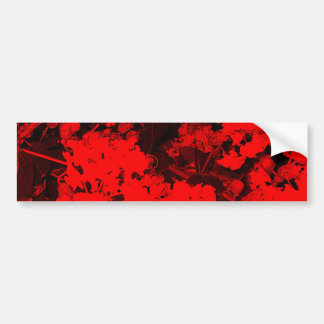 Red Abstract Bumper Sticker