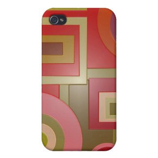 red abstract case for iPhone 4
