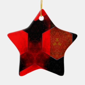 Red Abstract Ceramic Ornament