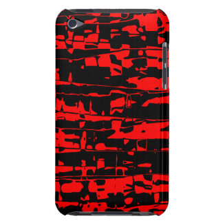 Red Abstract Crackle iPod Case-Mate Case