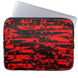 Red Abstract Crackle Computer Sleeve