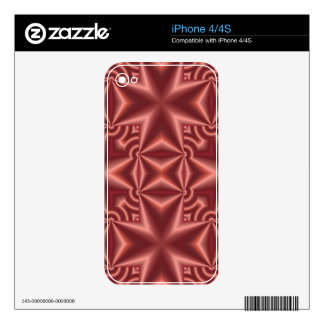 Red abstract cross pattern iPhone 4S skin