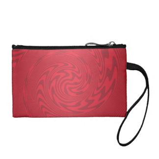 Red Abstract Design Coin Wallet