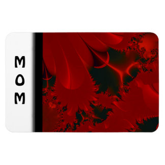 Red Abstract Design Magnet