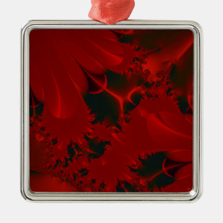 Red Abstract Design Metal Ornament