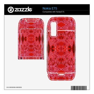 red abstract design decal for nokia e75