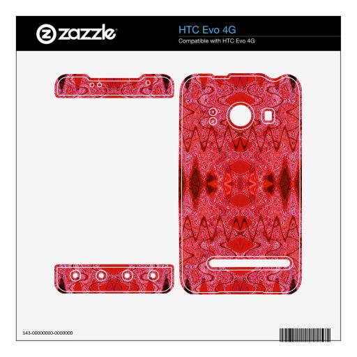red abstract design skin for the HTC evo 4G