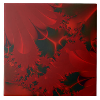 Red Abstract Design Tile