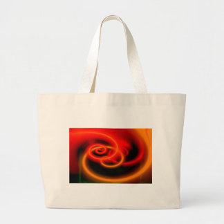 Red Abstract Digital Art Large Tote Bag