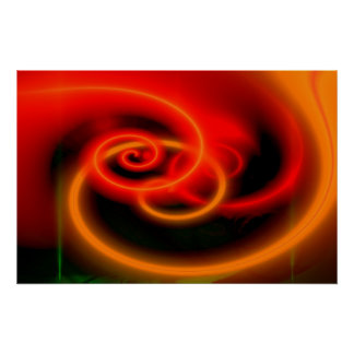 Red Abstract Digital Art Print - Art Posters