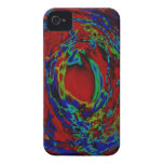 Red Abstract Digital iPhone 4 Case-Mate Case