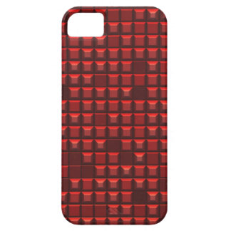 red abstract frustum (topless pyramid) pattern iPhone SE/5/5s case
