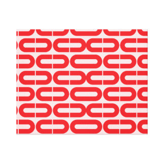 Red Abstract geometric  print. Canvas Print