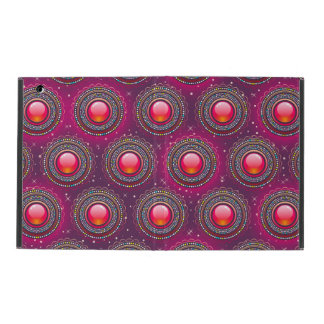 Red abstract glossy Jewels iPad Case