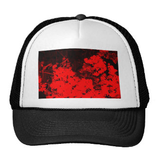Red Abstract Mesh Hats